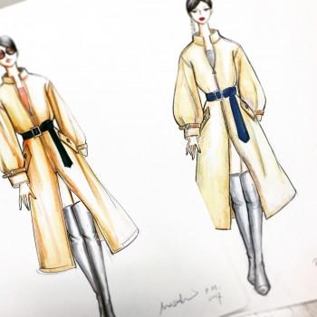 ファッションデザイン画の授業がおわりました☆