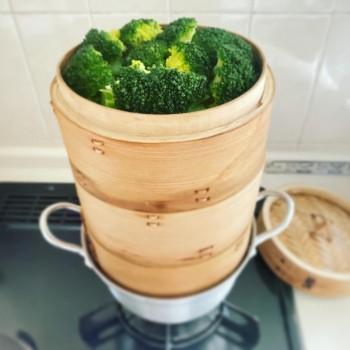 野菜は一気に蒸します♪