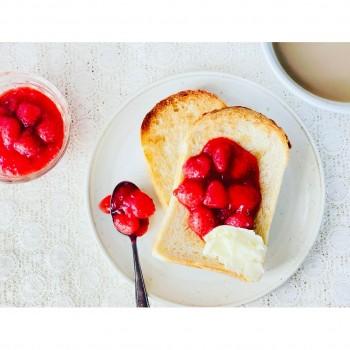 いちごの赤ワインコンフィチュール レシピ