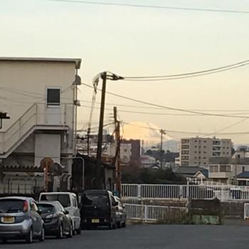 撮影日の富士山