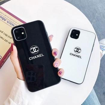 ガラス表面シャネルGalaxy S20/S20 plusケース ブランドiphone11proケースchanel Airpods proケース
