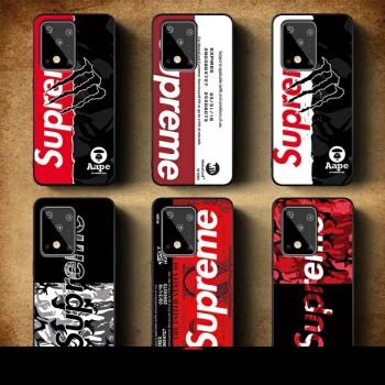 潮流シュプリーム Galaxy s20/s20 plus/s20ultraケースブランド個性iphone11/11pro maxケースsupreme Airpods proケース