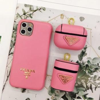 プラダ iphone12/11 pro maxケースブランドgalaxy s20/s20+ケースバーバリーお洒落prada Airpods proケース
