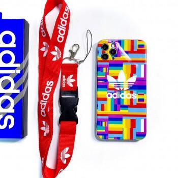 adidas iphone11/12 pro maxケースブランド iphone12ケースステューシー Airpods proケース  男女兼用