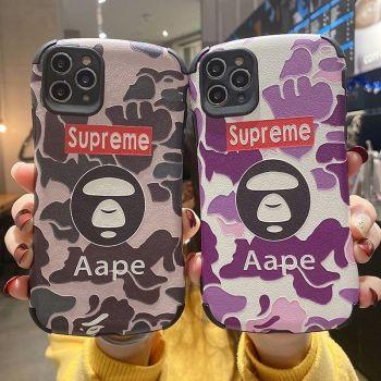 シュプリームAape iphone12 mini/12 pro maxケース シャネル galaxy s21/s20 plusケースブランド airpods proケース潮流人気