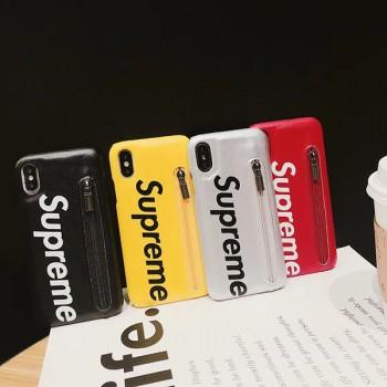 シュプリームgalaxy s10カバー SUPREMEアイフォンXSカバー カード収納 ステューシーtシャツ半袖