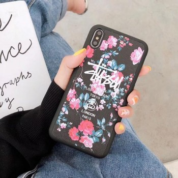 stussy iphonexsケース 花柄 supreme lvコラボ galaxy s10+カバー LOEWE DUMBO半袖 ペアお揃い