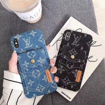 ヴィトン iphonexs maxケース デニム風 花柄 ステューシー galaxy s10カバー シュプリーム iphone xs max携帯カバー 男女向け