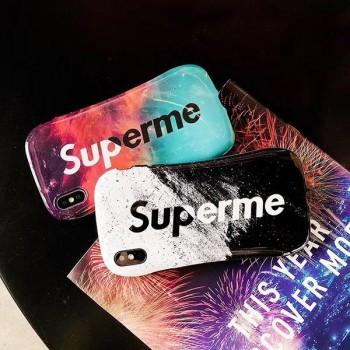シュプリームiphonexs maxケース グラデーション supreme lvコラボ galaxy s10+カバー 男女兼用 stussyアイフォンxs/xrケース 花柄