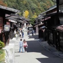 快晴の日曜日、奈良井の宿に。