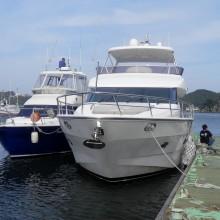 マリーナの1番大きな船で下田まで行ったよ。
