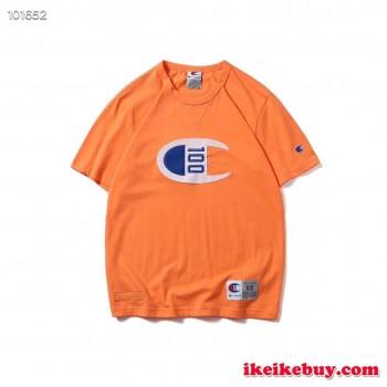 韓国大人気チャンピオンロゴ刺繍 Tシャツ学生用カップル用 春夏服一覧!激安!送料無料!