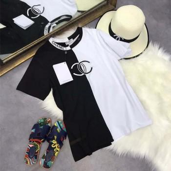 シャネルiPhonexs/xs maxケース 男女向け 夏 ファッション 刺繍tシャツ