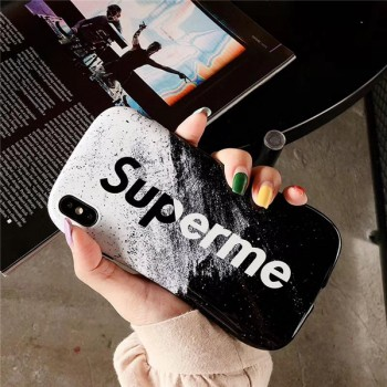 supreme iPhone11/11proケース 強化ガラス