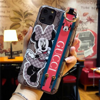 ブランドグッチ iPhone11プロケース 可愛いミッキー 高質感 ルイヴィトン iPhone 11ProMax手帳型カバー