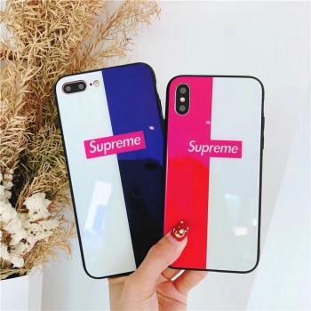 潮流 シュプリーム iphone 11/11pro maxケース ブランド iphone 11proケースガラス表面