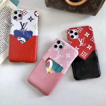 ルイヴィトン iphone11/11 pro maxケースブランド Airpods proケース背面カード入れ