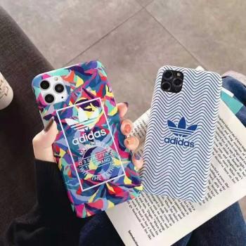 アディダスiphone12/11 proケースナイキ iphone11/SE2ケースオーフホワイトiphone11プロケースストリート風