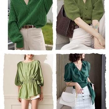 下半身がグリーンのグリーンのシャツの着こなし方は、見た目が良いグリーンの配色がオススメ