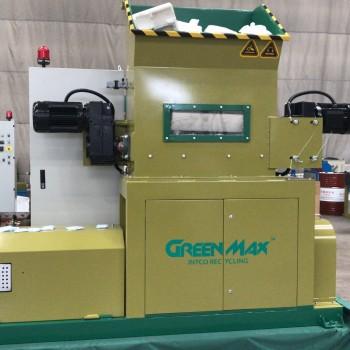 GREENMAX発泡スチロールコンパクター-ポリスチレンリサイクル用の新しい半自動システム