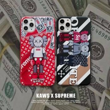 Kaws コラボ Supreme アイフォン11pro maxケース 定番模様 グラフィティ風 iphone11proカバー 派手 カッコイイ iphone11ケース アニメ落書き パーソナリティ アイフォンxs maxスマホケース ユニーク スタイリッシュ iphonexr/xs/x携帯カバー