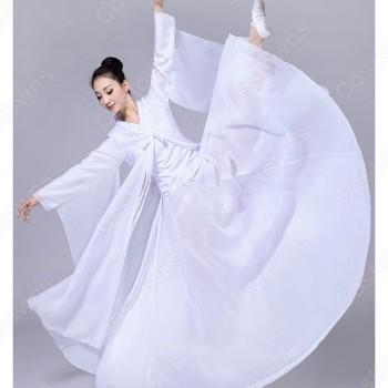 漢服 コスプレ衣装 中華風 古典ダンス衣装 赤白二色 学園祭 おしゃれコス服 学園祭文化祭 演出服 ダンスウェア 古典楽器吹奏衣装