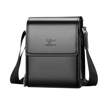 ショルダーバッグ メンズ メッセンジャーバッグ縦型 小さめ ビジネスバッグ カード3枚収納 10.5インチipad収納可