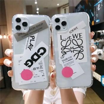 iPhone 12 Pro Maxケース ハイブランド ロエベ アイフォン12カバー キラキラ クリア
