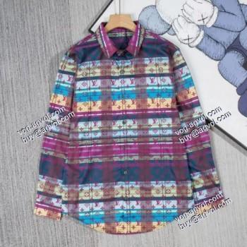 落ち着いた感覚 2021春夏 LOUIS VUITTONブランドスーパーコピー クラシックシャツ ルイ ヴィトン LOUIS VUITTON 長袖シャツ