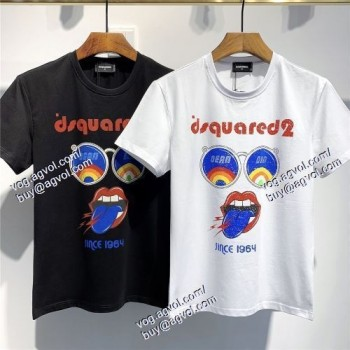 2021春夏 2色可選 半袖Tシャツ DSQUARED2スーパーコピー 激安 ディースクエアード DSQUARED2