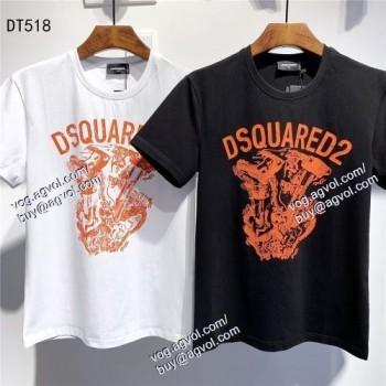 2色可選 超目玉 半袖Tシャツ DSQUARED2偽物ブランド ディースクエアード DSQUARED2 2021春夏