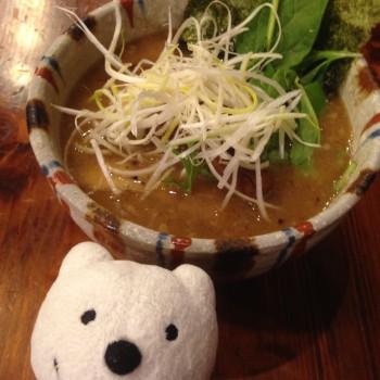 先日の豚骨魚介らぁめん 細麺/上野 戸みら伊本舗