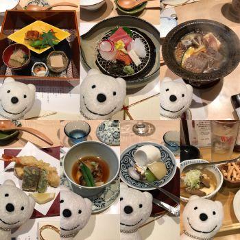 クマ会席:北大路 京橋茶寮で品行方正なクマは料理を堪能