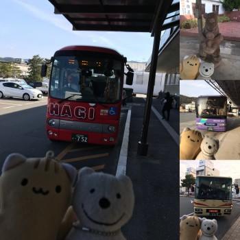 クマ散歩:萩市・美祢市・山口市・宇部市、クマの乗りバス