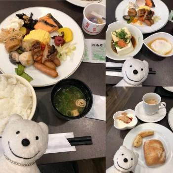 クマ散歩:ホテルサンルート福知山たんばで品行方正なクマは朝食を