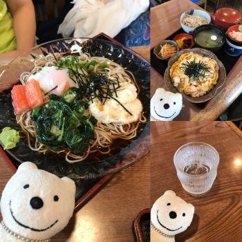 先日の親子丼ランチセット、ねばとろ玉そば&そば焼酎/松本庵