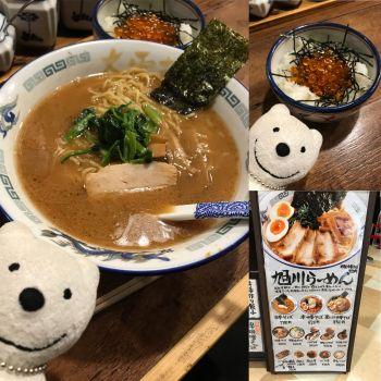 先日の中華そば&いくら丼/旭川ラーメン 大雪軒