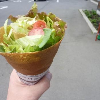 サラダぽっいクレープ