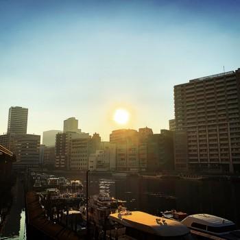 駅に向かう途中で見た夕陽..✽