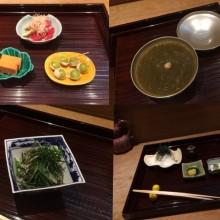 日本料理店(ミシュラン2つ星)行ってきたよ
