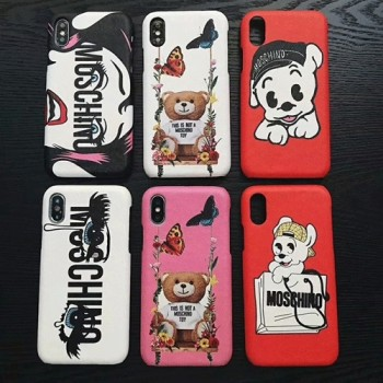 個性 モスキーノ iphone x/8 plusケース ブランド アイフォン テンケース可愛い