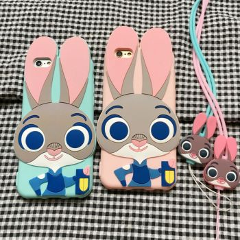 シリコン製Zootopiaディズニーiphone8/8 plusケースカバー