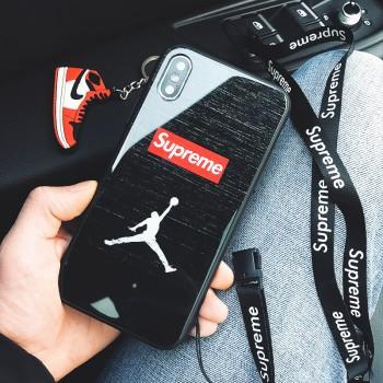 マイクロジョーダンSupremeアイフォンX カバパロディーSupremeアイフォン8ケース薄型自撮りカーミット