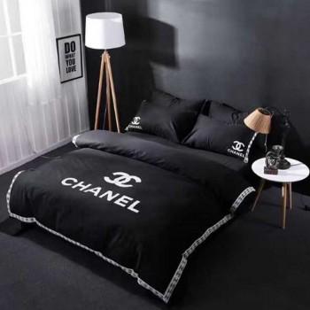 シャネル掛け布団カバー4点セット+クッション 寝具をシリーズに揃えよう!