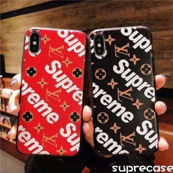 新作 supreme xヴィトン iphone xrケース ペア iphone xs/xs maxカバー 人気