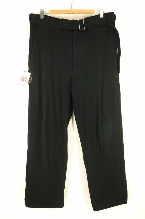 Yohji Yamamoto POUR HOMME (ヨウジヤマモトプールオム) ベルテッドパンツ メンズ パンツ