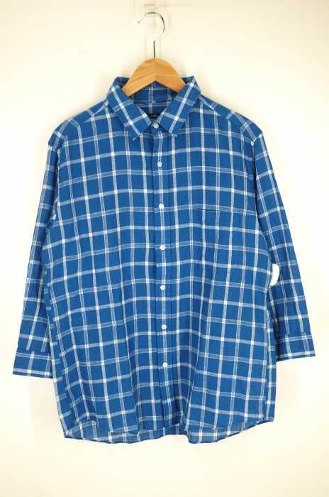 SHIPS (シップス) Shuttle notes コットン リネン レギュラーカラー 7スリーブシャツ メンズ トップス