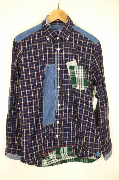 JUNYA WATANABE COMME des GARCONS MAN (ジュンヤワタナベコムデギャルソンマン) AD2011 ボタンダウンパッチワークシャツ メンズ トップス