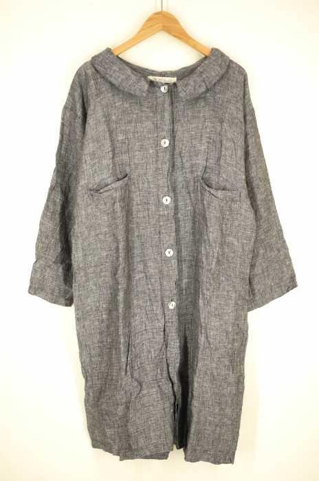 fog linen work×nest Robe (フォグリネンワークネストローブ) シェルボタンコートワンピース レディース ワンピース