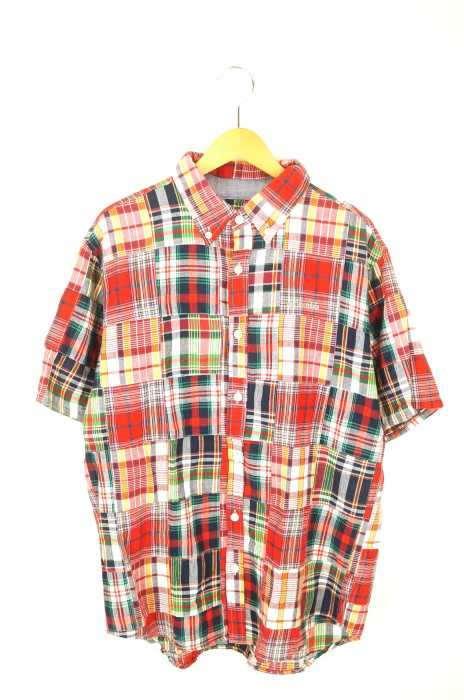 Columbia (コロンビア) Van Nuys Short Sleeve Shirt パッチワークシャツ メンズ トップス